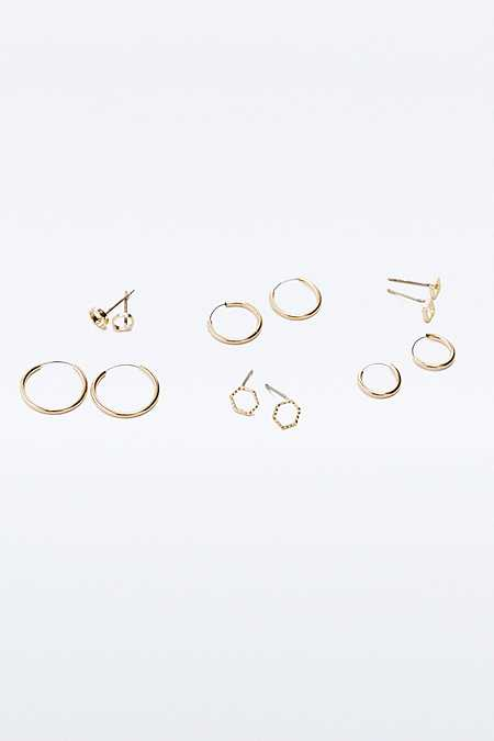 Facet Shaped Earrings Multipack