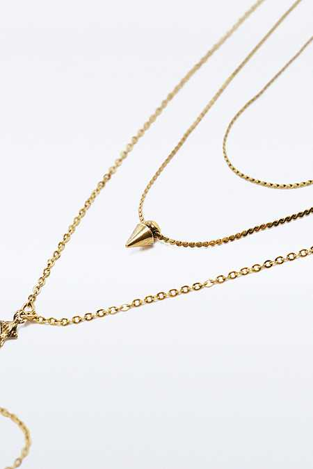 Three Row Lariat Necklace