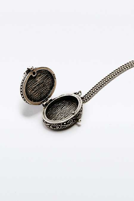 Stone Locket Necklace
