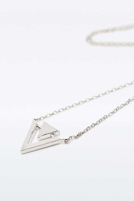 Fine Double Triangle Ditsy Necklace