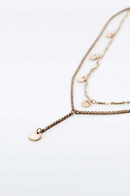 Fine Disc Layering Necklace