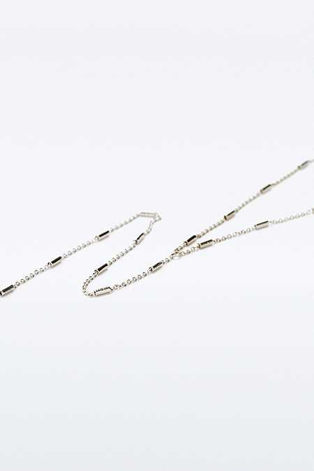 Tube Link Lariat Necklace