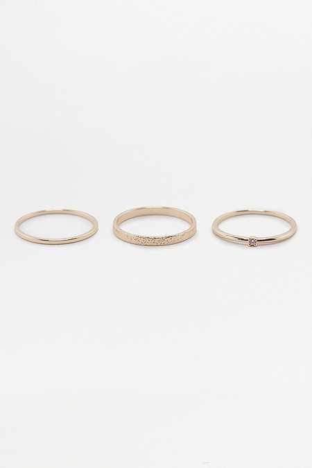 Ring in geätztem Design im 3er-Set