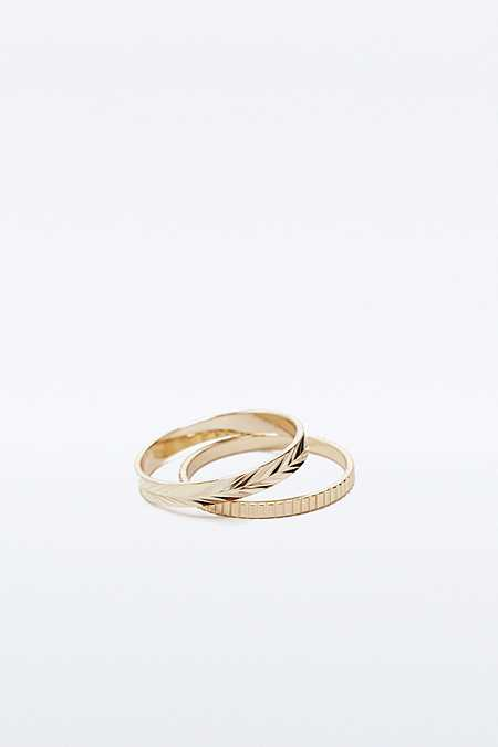 Facet Ring Two-Pack