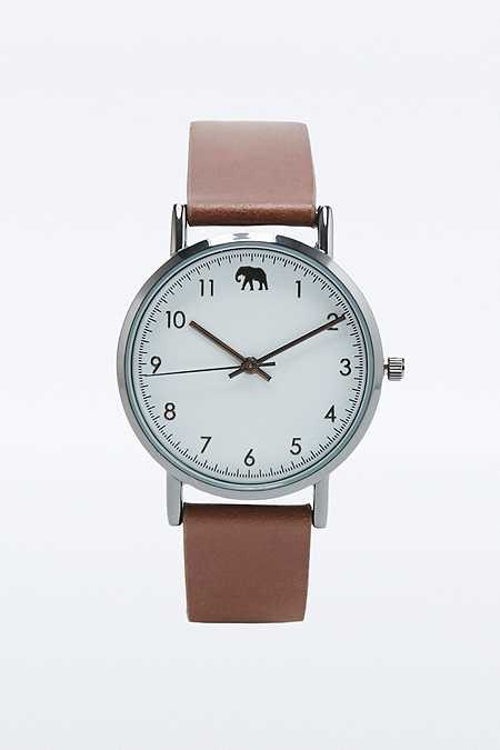 Safari Brown Elephant Watch