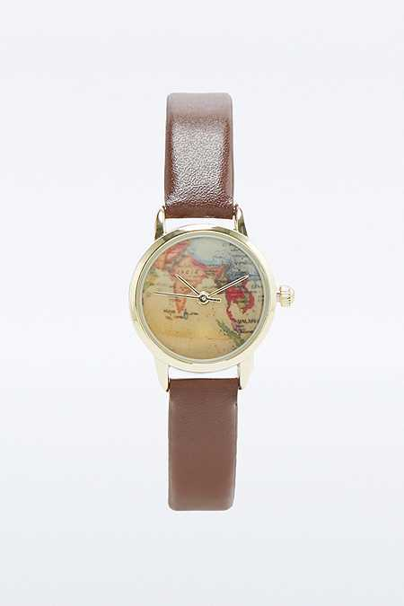 Brown Globe Mini Watch