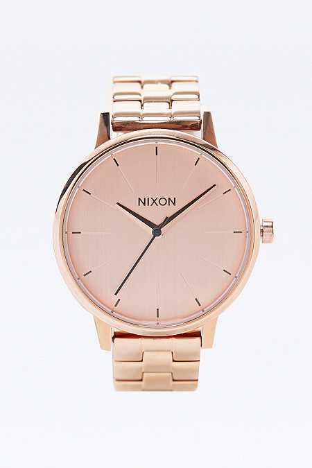 Nixon - Montre Kensington or rose