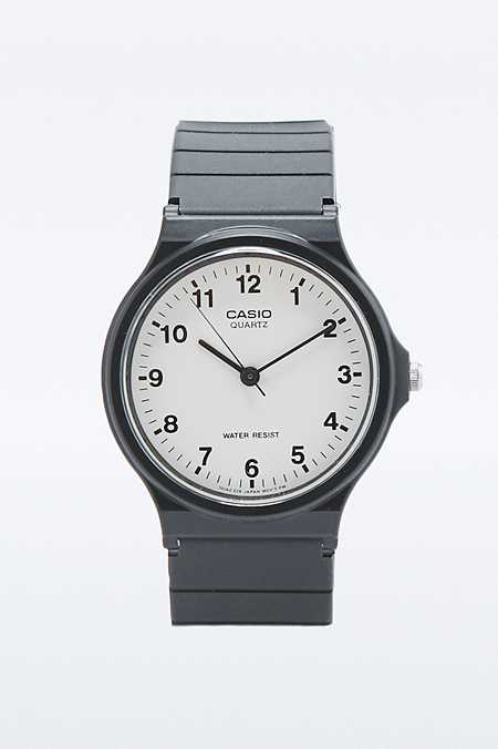 Casio Black and White Clean Analogue Watch