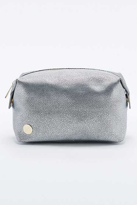 Mi-Pac Silver Pebbled Cosmetics Bag