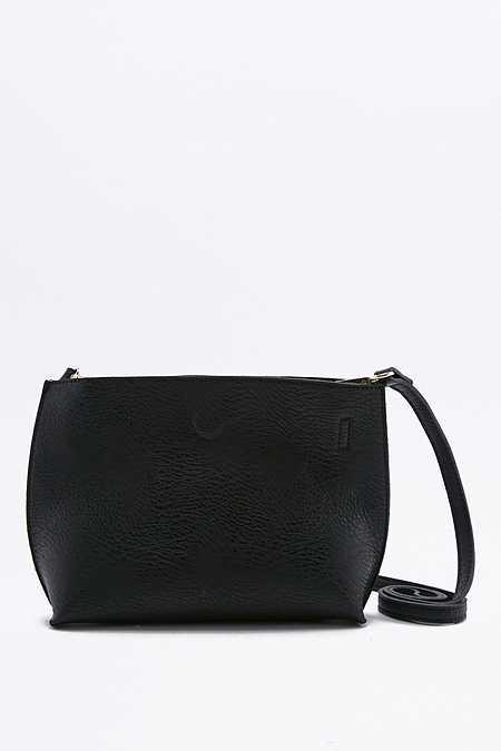 Mini sac fourre-tout à bandoulière noir