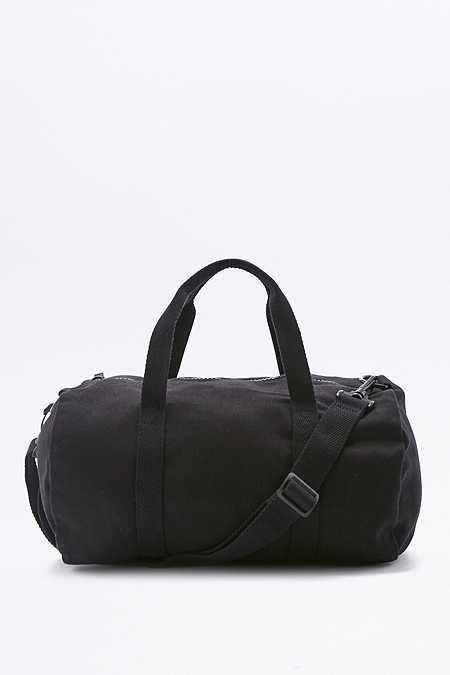 BDG – Kleine Sporttasche aus Leinen in Schwarz