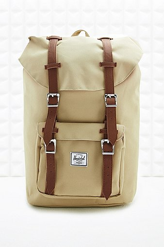 herschel little america backpack in beige urban outfitters. Black Bedroom Furniture Sets. Home Design Ideas