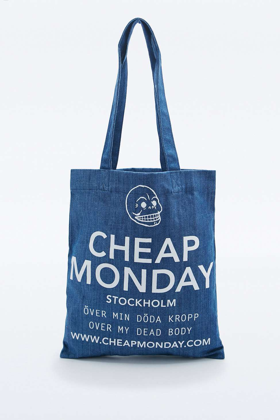Cheap Monday New Denim Tote Bag in Blue - Magnet Look