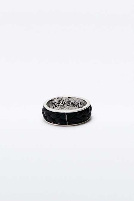 "Icon Brand – Ring ""Don't Get it Twisted"" in Schwarz"