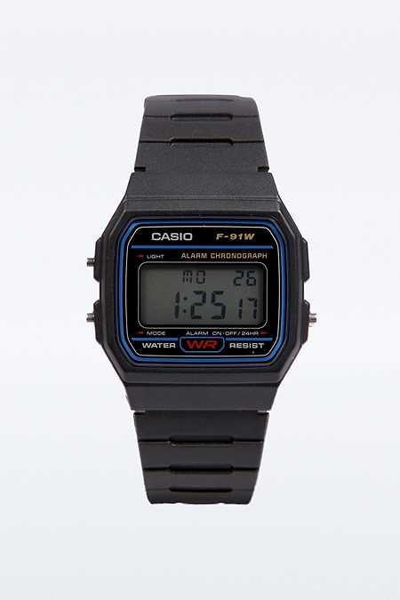 Casio Lässige, schwarze Digitaluhr