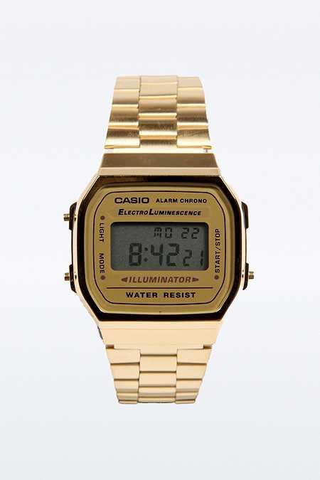 Casio Goldene, klassische Digitalarmbanduhr