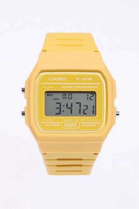 Casio Lässige, gelbe Digitaluhr