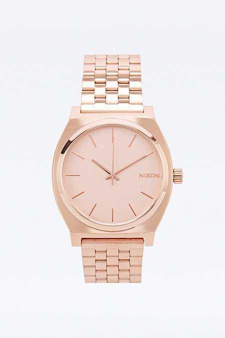 "Nixon – Uhr ""Time Teller"" in Roségold"