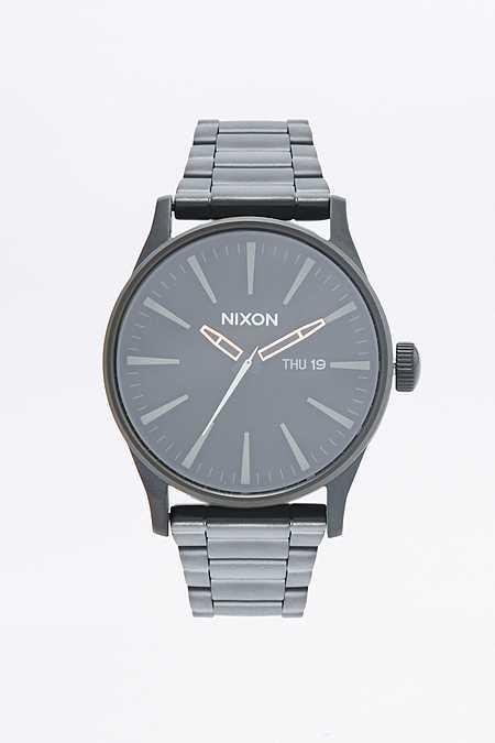 """Nixon – Uhr """"Sentry SS"""" in Schwarz und Grün"""