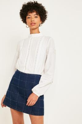 Uo Pintuck Blouse by Urban Outfitters