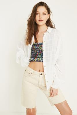 Uo   Chemise Boutonnée Texturée Tabby by Urban Outfitters