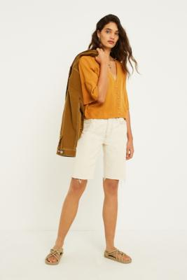 Urban Outfitters - UO Daydream Bronze Button-Through Blouse, yellow