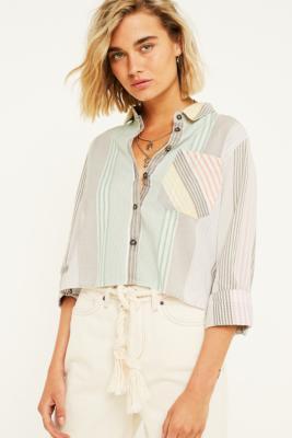 Urban Outfitters– Kurz Geschnittenes Hemd Im Regenbogendesign by Urban Outfitters Shoppen