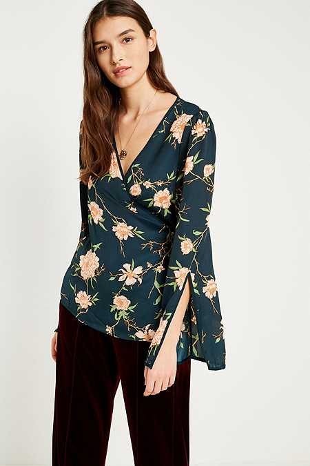 Pins & Needles Heffner Floral Wrap Blouse