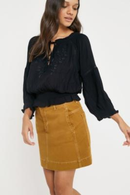 Urban Outfitters - UO Robyn Boho Blouse, Black