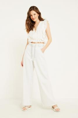 Uo Rani White Eyelet Blouse by Urban Outfitters