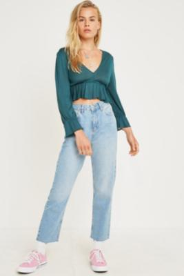 uo-blossom-green-blouse by urban-outfitters