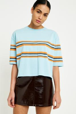 Urban Outfitters - UO Striped Boxy T-Shirt, Sky