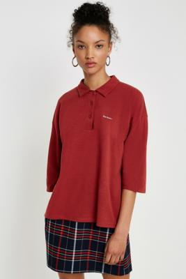 iets frans... - iets frans…  Oversized Polo Shirt, Maroon