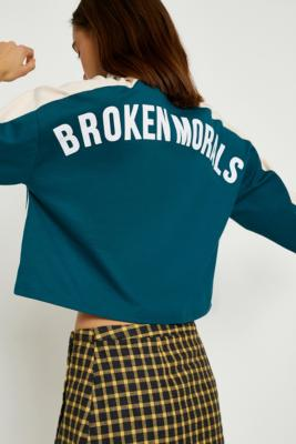 Cooperative by Urban Outfitters - Urban Outfitters Broken Morals Long-Sleeve Top, Green
