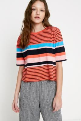 """Urban Outfitters – Boyfriend T Shirt """"Sunrise"""" Mit Streifendesign by Urban Outfitters Shoppen"""