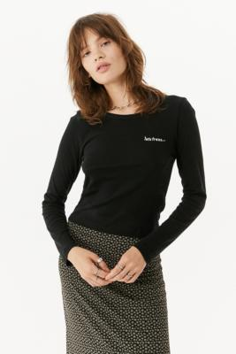 iets frans. Long-Sleeve Baby T-Shirt - Black XS at Urban Outfitters