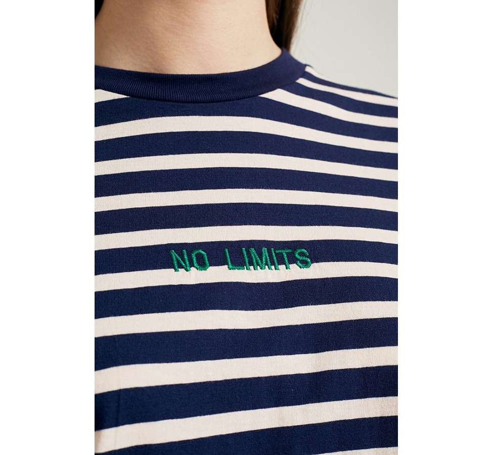 Slide View: 3: Urban Outfitters - T-shirt No Limits rayé à manches longues
