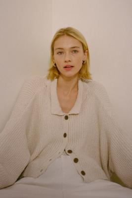 UO Simona Ribbed Cardigan & Cami Set - Urban Outfitters - Modalova