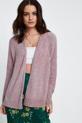 Urban Outfitters - UO Plush Chenille Cardigan, Pink