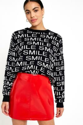 Cooperative by Urban Outfitters - Urban Outfitters Smile Jumper, Black