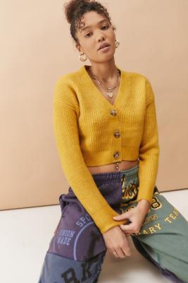 UO - Cardigan duveteux en maille - Urban Outfitters - Modalova