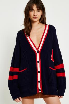 Urban Outfitters - UO Varsity Letter Cardigan, Navy