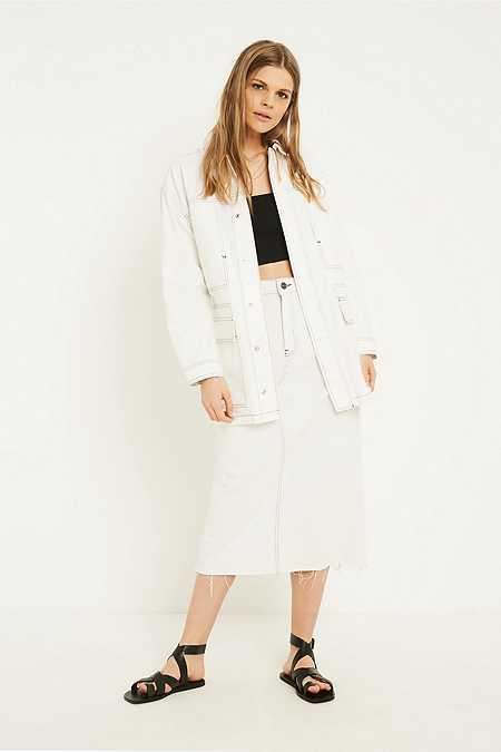 BDG White Contrast Stitch Workwear Jacket