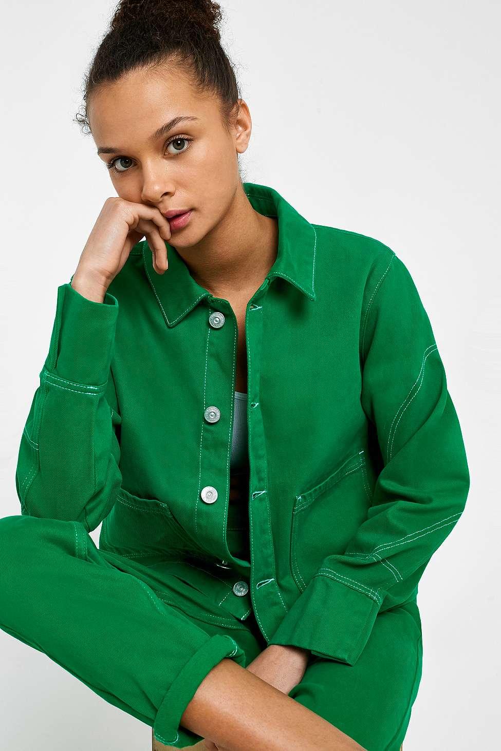 BDG Green Utility Jacket, Green