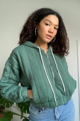 UO - Veste à capuche matelassée Khloe - Urban Outfitters - Modalova