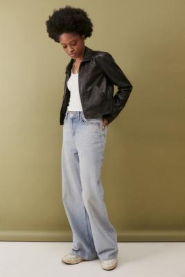UO - Veste en faux cuir Chloe noire - Urban Outfitters - Modalova