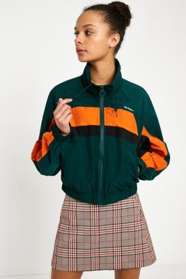 iets frans... - iets frans…  Green Cropped Nylon Shell Jacket, Green