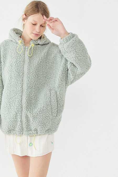 Women S Faux Fur Teddy Coats Jackets Urban Outfitters Uk