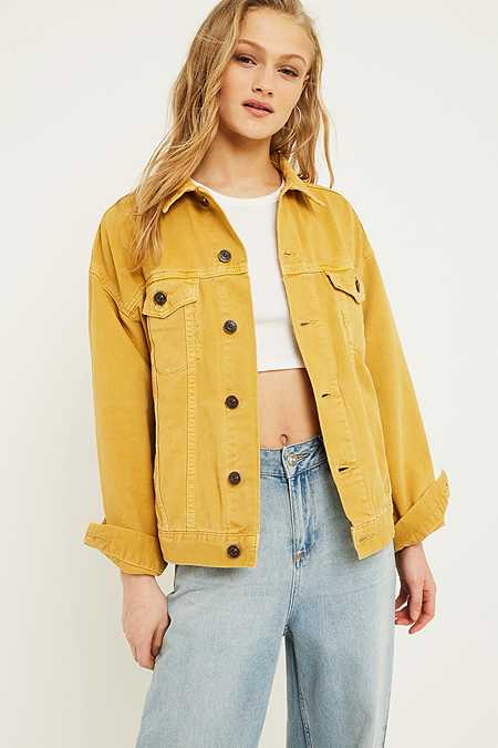 UO Cornflower Western Denim Jacket