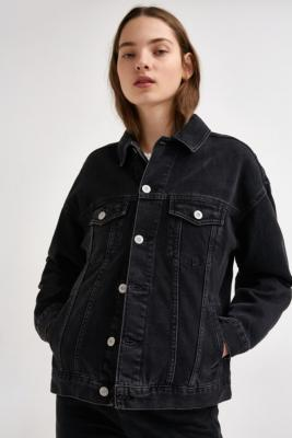 BDG - BDG Boyfriend Black Denim Jacket, Black